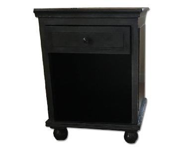 Restoration Hardware Grey End Table