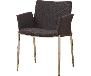 Coaster Dining 120 Upholstered Dining Chair w/ Chrome Legs