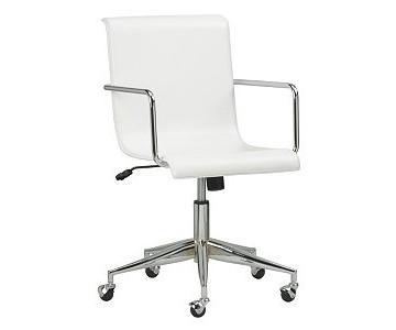 CB2 White Surf Desk Chair