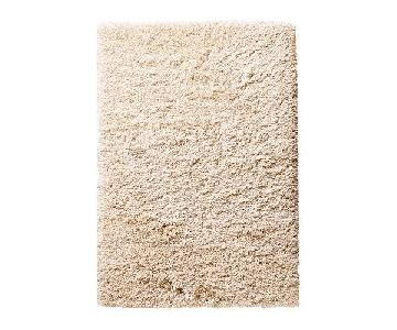 Ikea Gaser High Pile Rug in Off White