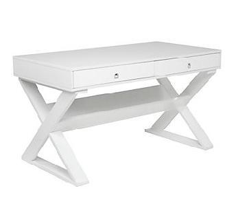 Z Gallerie Jett White Lacquer Desk