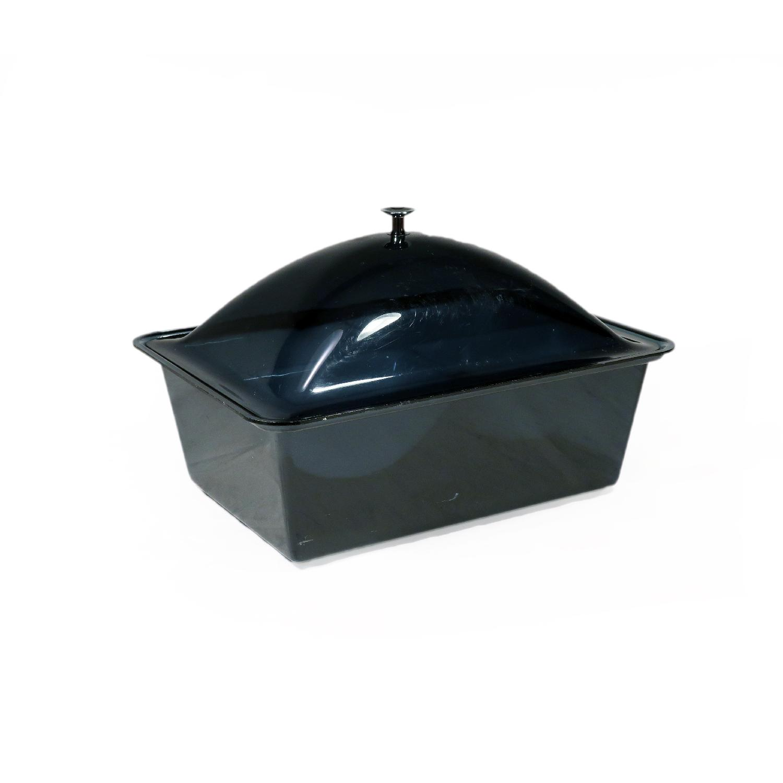 Smoked Acrylic Ice Bucket & Cold Food Server