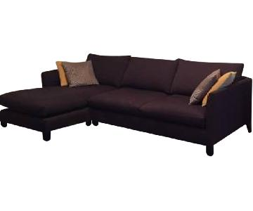 Crate & Barrel 2 Piece Sectional Couch