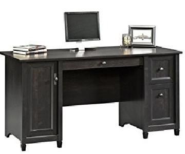Sauder Edge Water Computer Desk in Estate Black