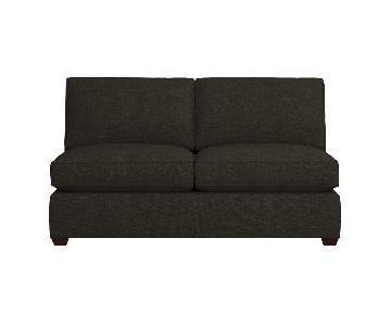 Crate & Barrel Davis Armless Full Sleeper Sofa