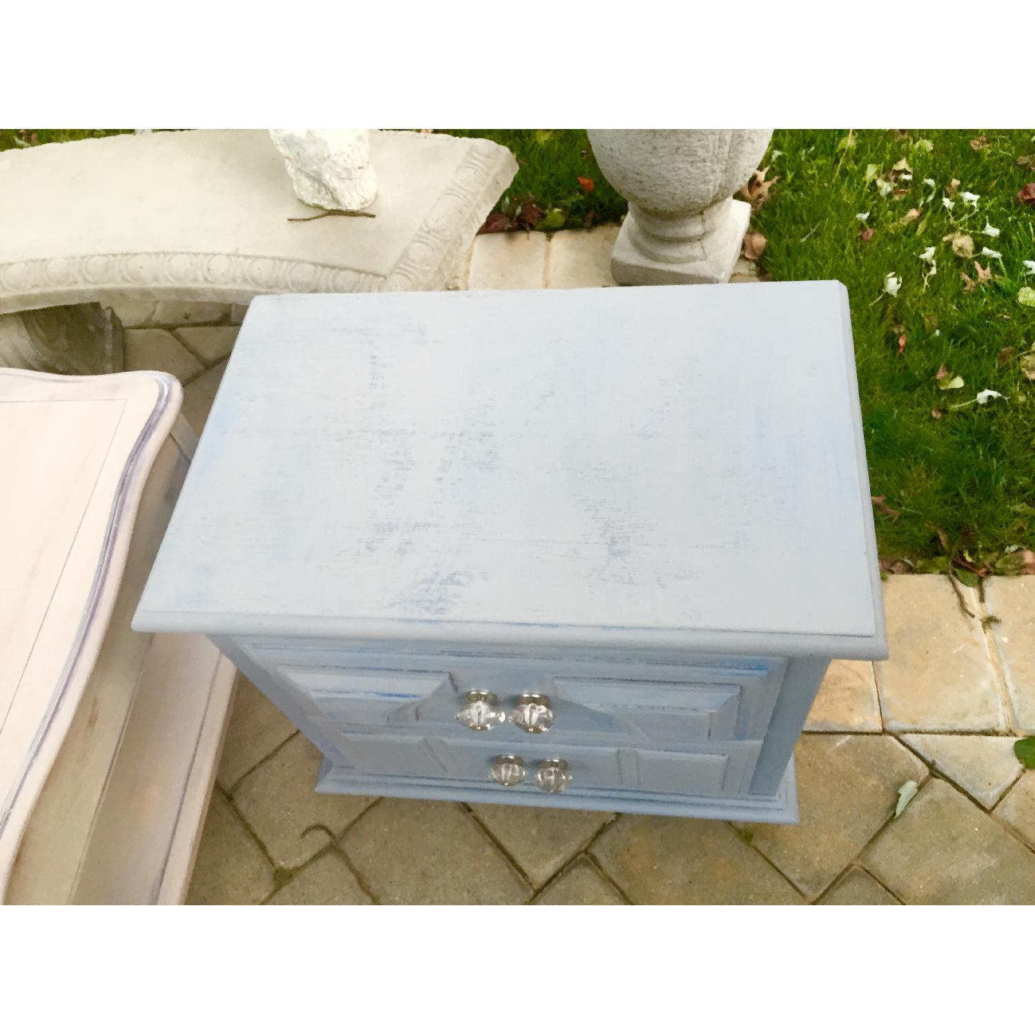 Blue Wash Distressed Nightstand - image-1