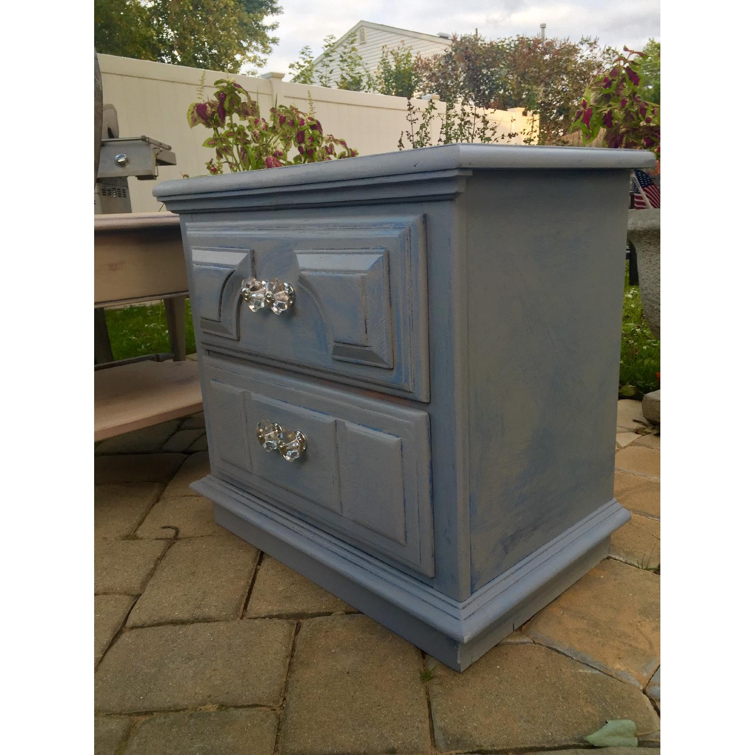 Blue Wash Distressed Nightstand - image-2