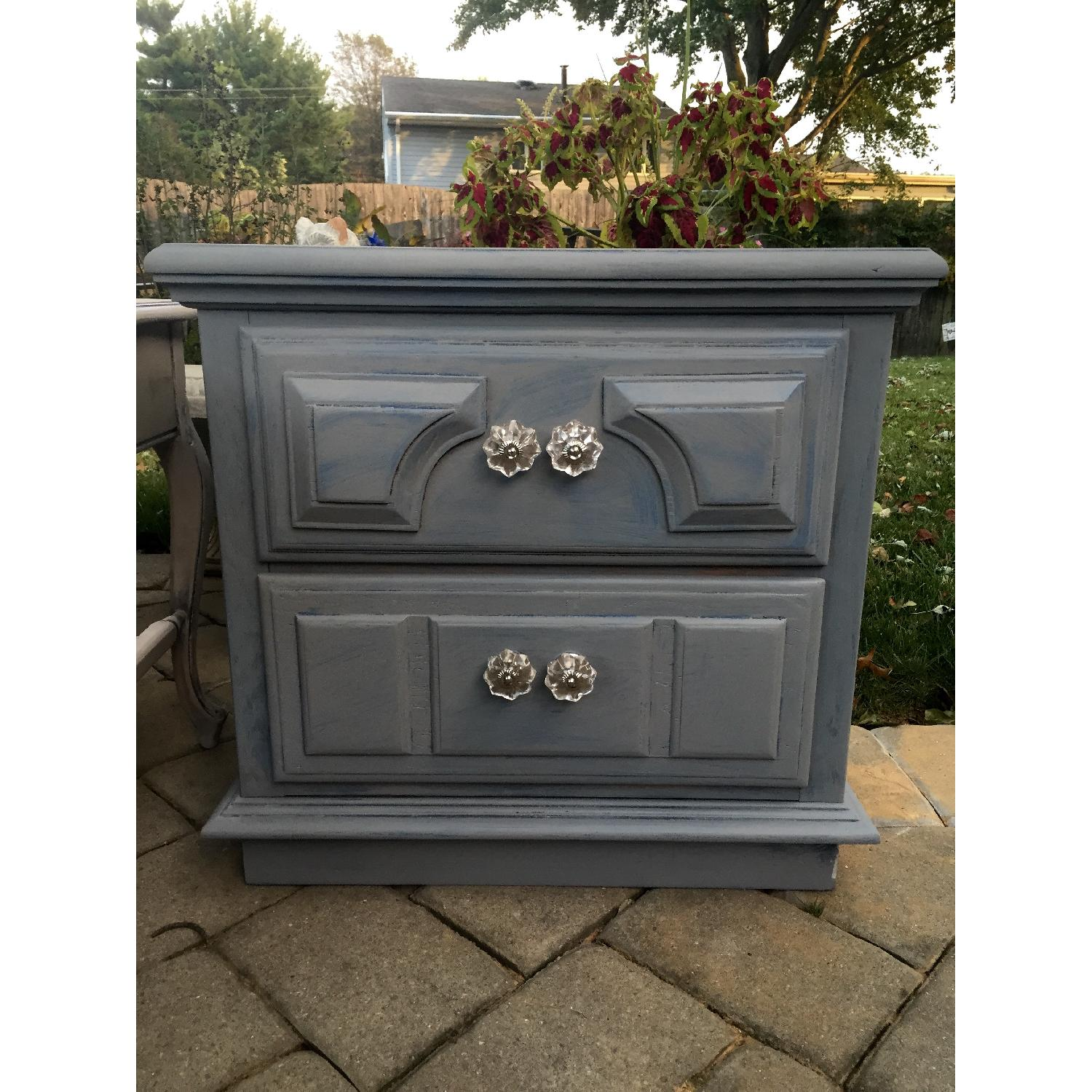 Blue Wash Distressed Nightstand - image-4