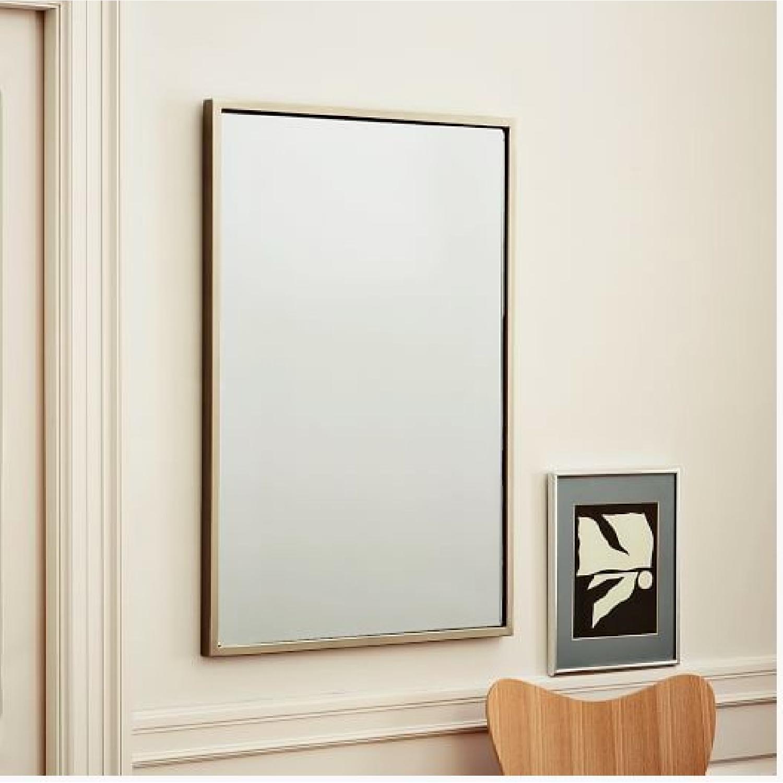 West Elm Metal Frame Mirror - image-1
