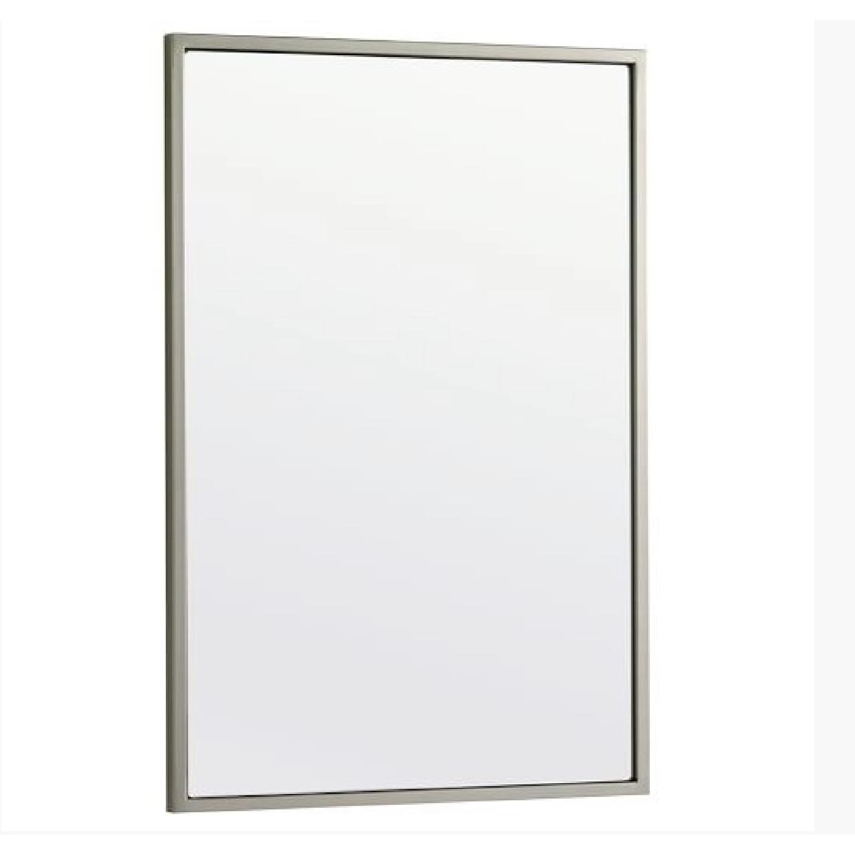 West Elm Metal Frame Mirror - image-0