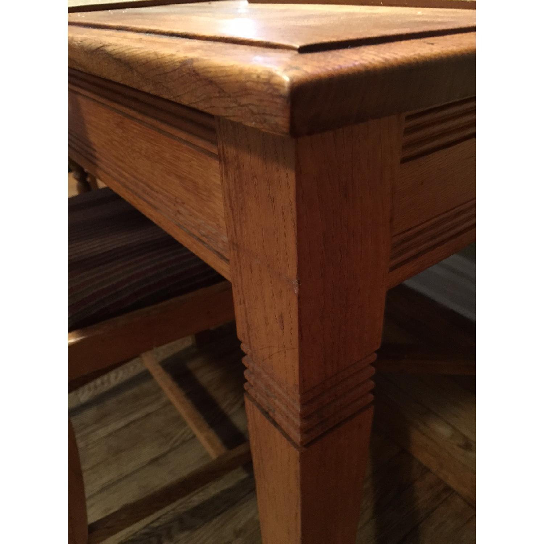 Antique European Tiger Oak Dining Table - image-4