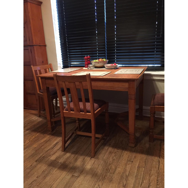 Antique European Tiger Oak Dining Table - image-6