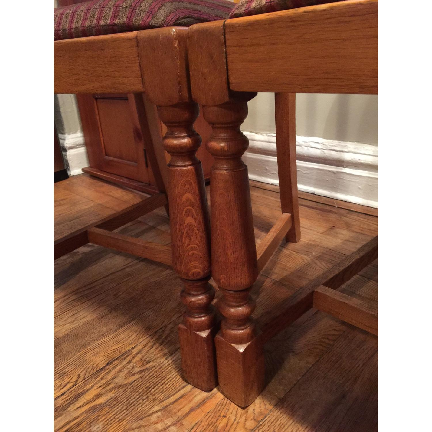 Antique European Tiger Oak Dining Chairs - image-4