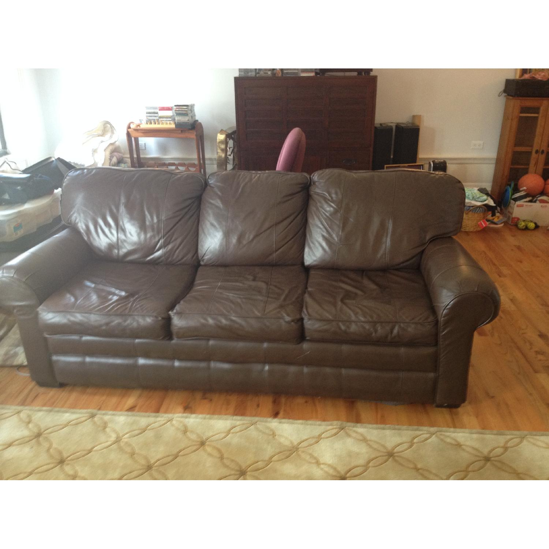 Brevetti Stema Leather Sofa Bed - image-1