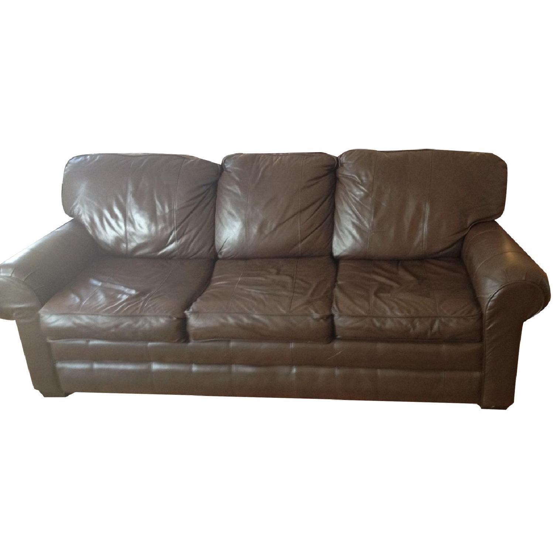 Brevetti Stema Leather Sofa Bed - image-0