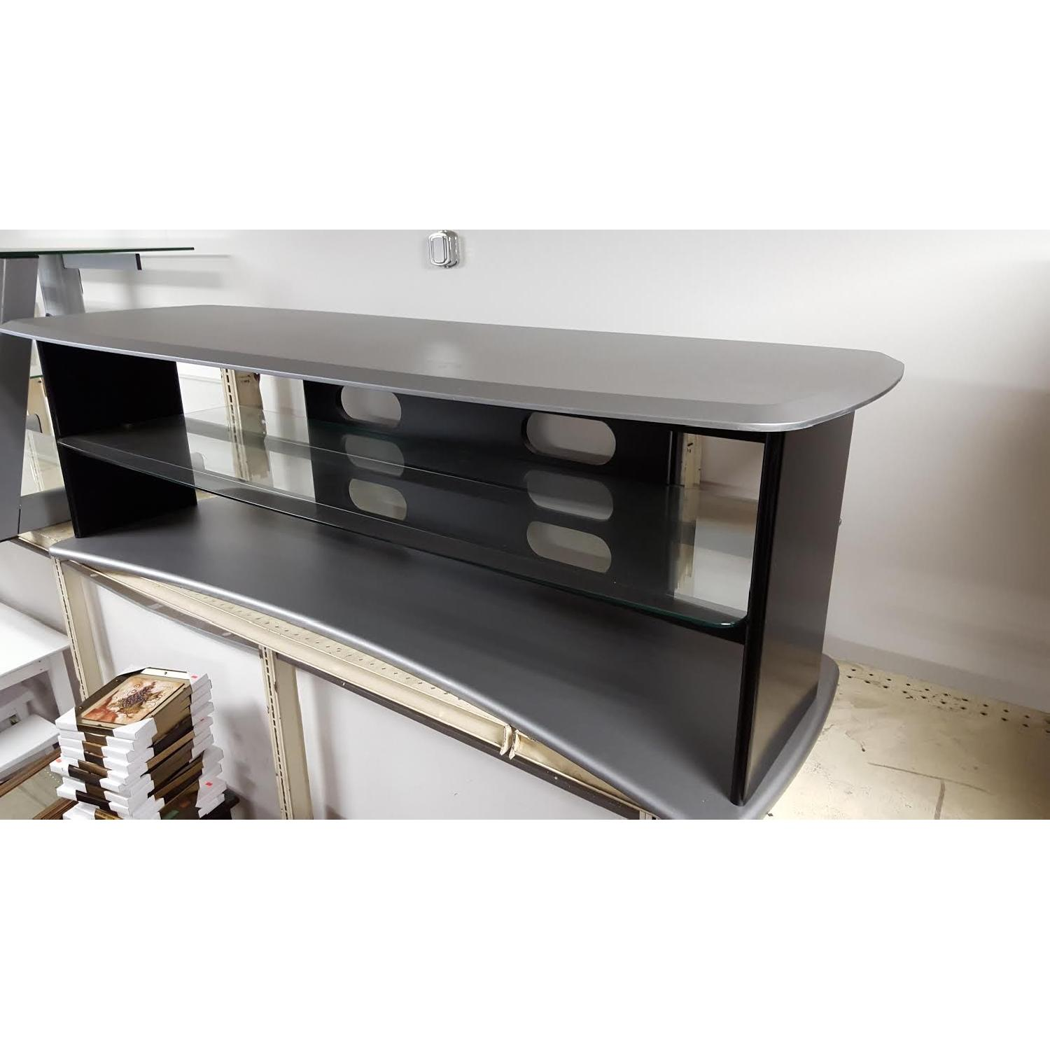Black & Silver TV Stand - image-1