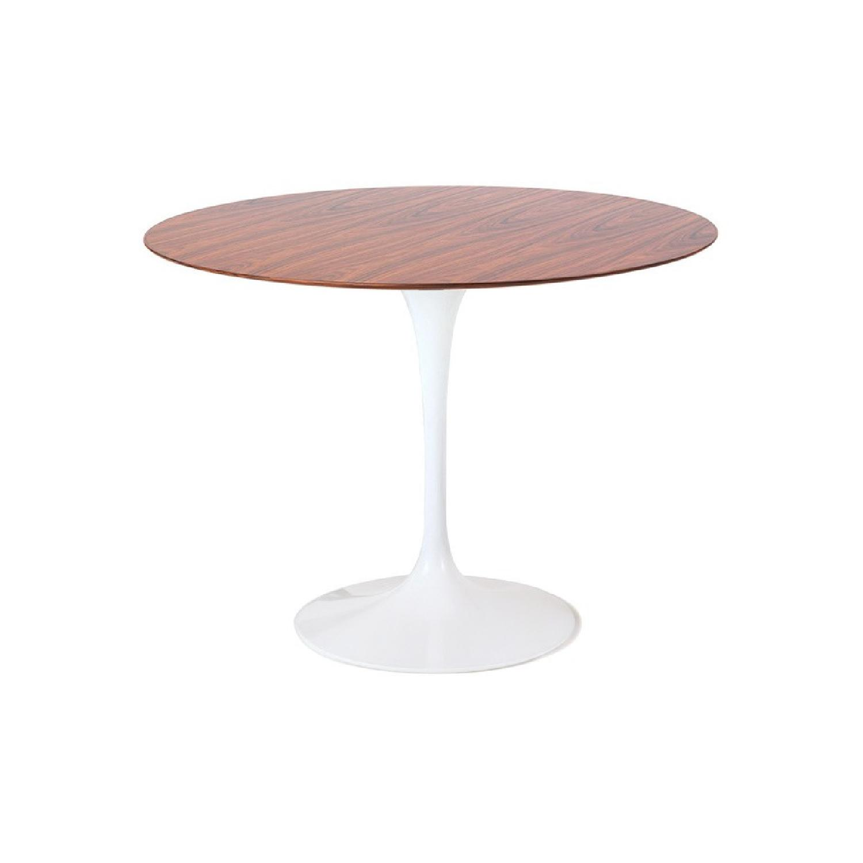 Knoll 1970s Rosewood Saarinen Tulip Table - image-0