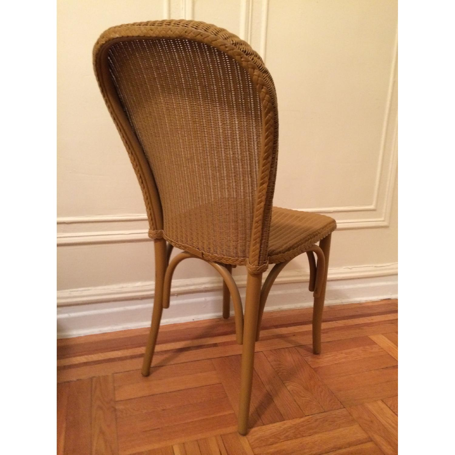 Italian Woven Wire Bentwood Chairs - Set of 4 - image-3