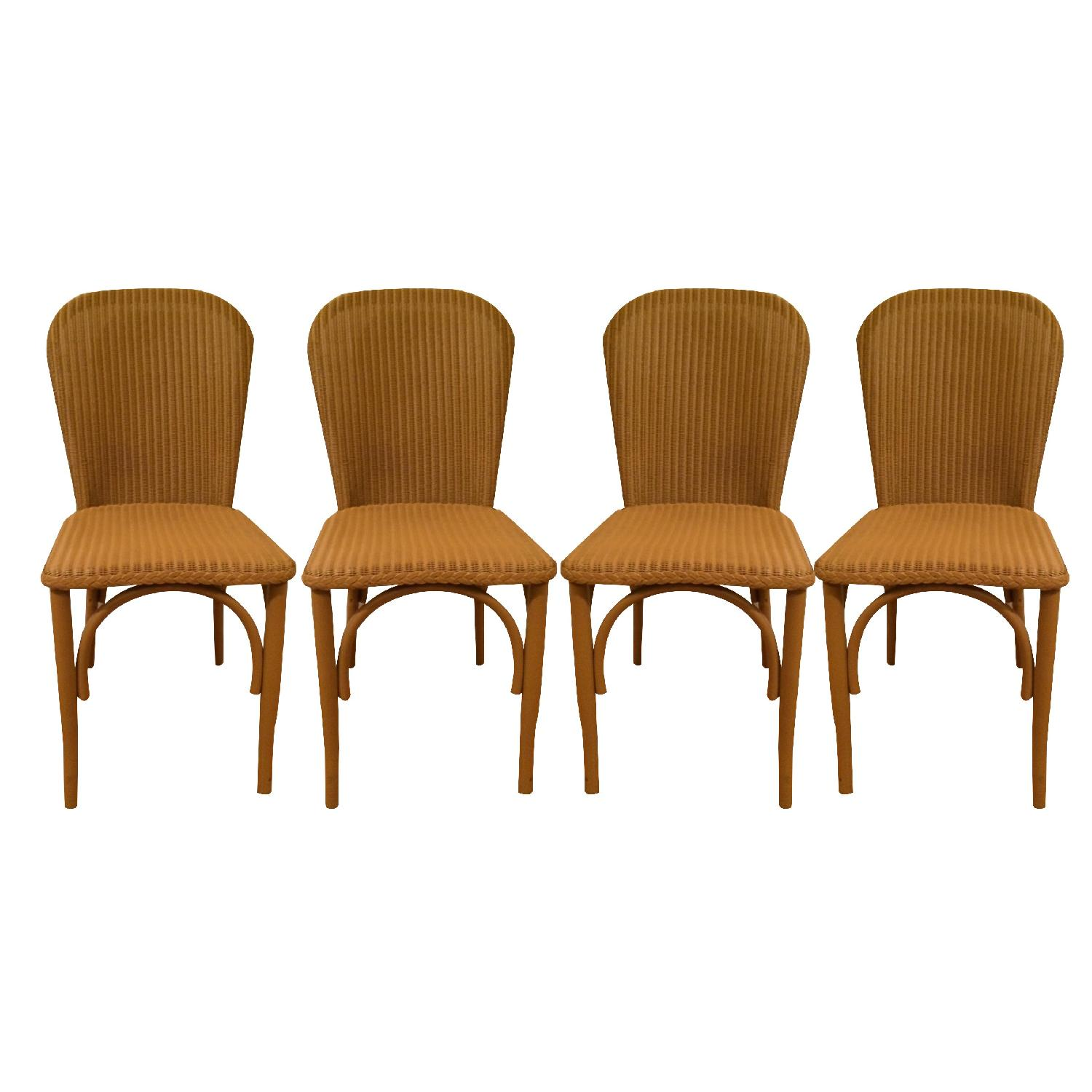 Italian Woven Wire Bentwood Chairs - Set of 4 - image-0