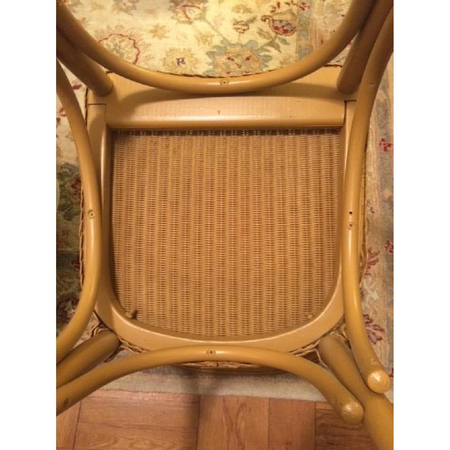 Italian Woven Wire Bentwood Chairs - Set of 4 - image-7