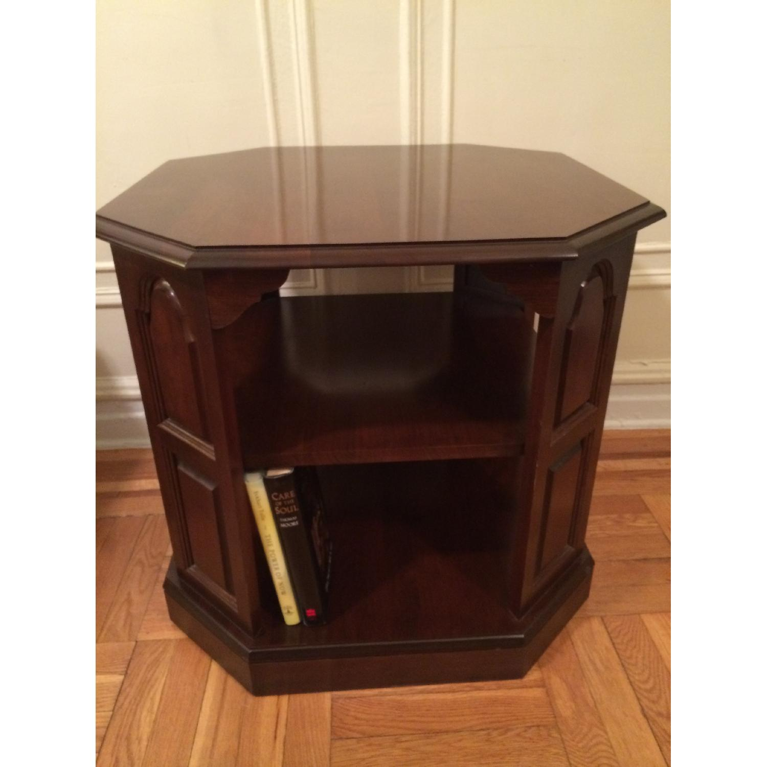 Mahogany-Stained Bookcase/End table - image-1