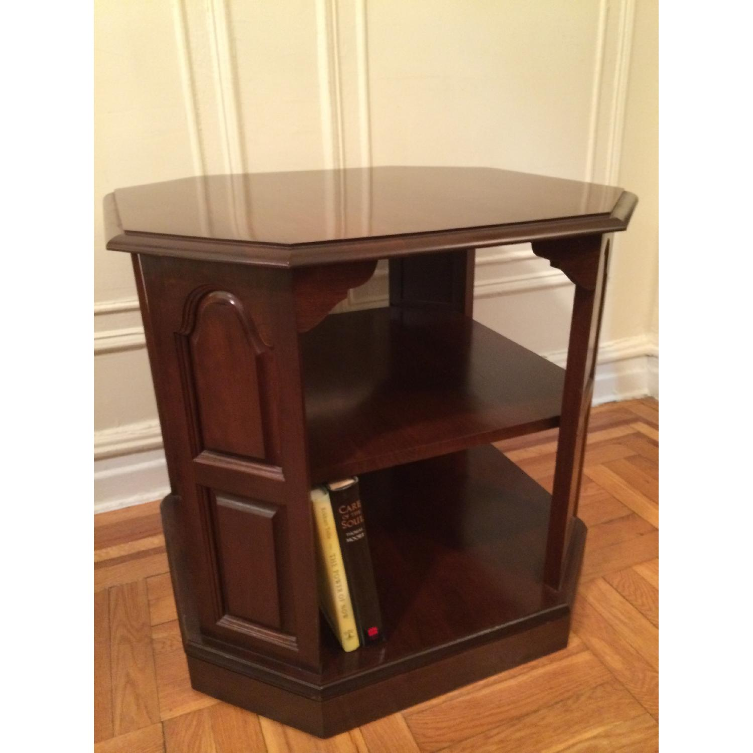 Mahogany-Stained Bookcase/End table - image-2