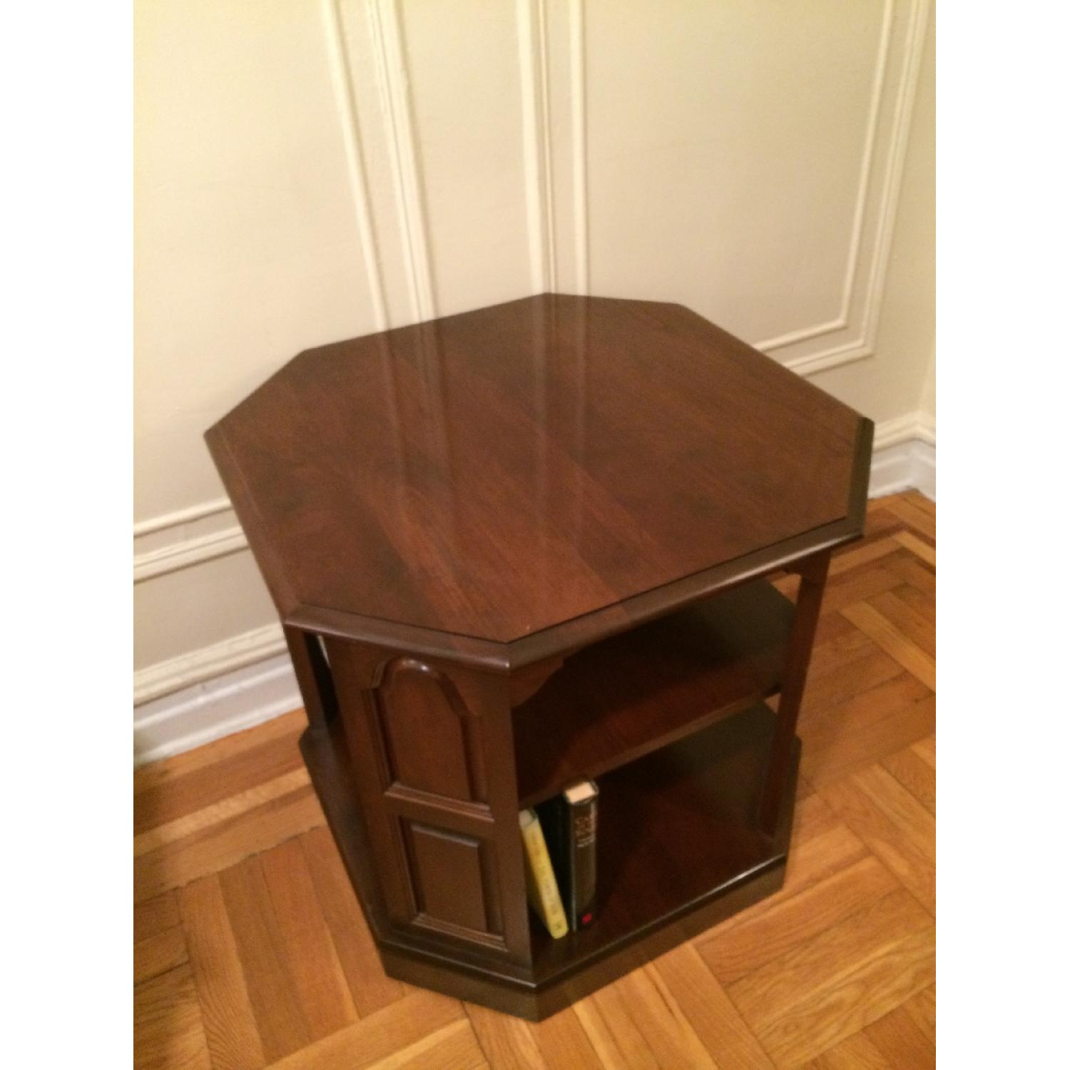 Mahogany-Stained Bookcase/End table - image-3