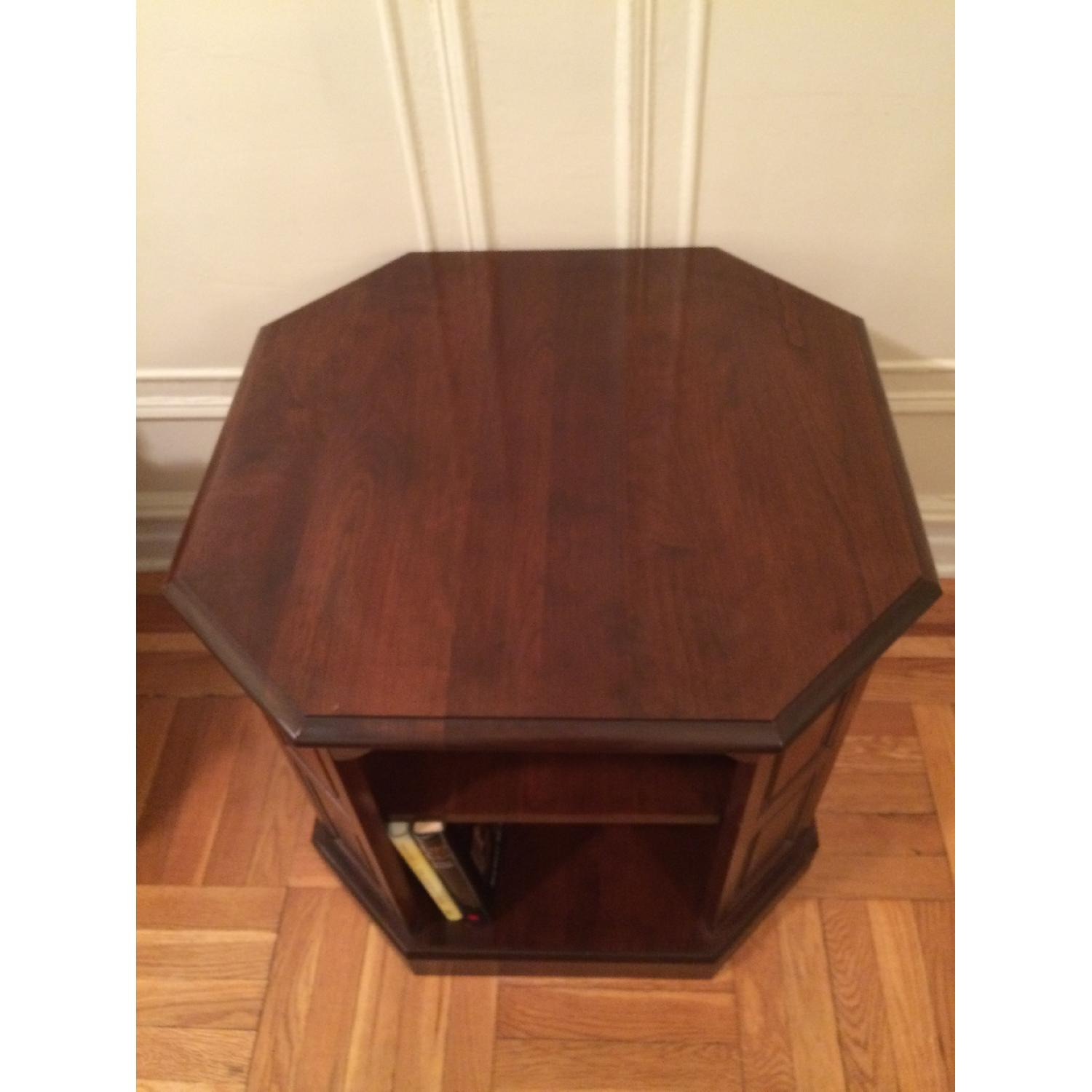 Mahogany-Stained Bookcase/End table - image-4