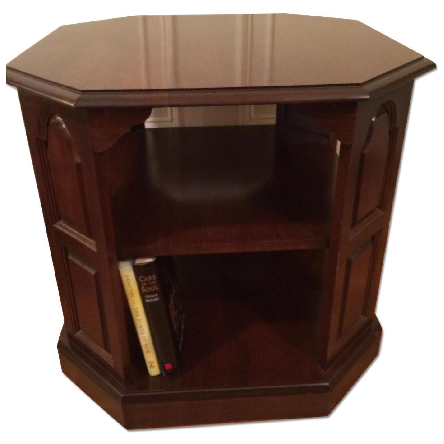 Mahogany-Stained Bookcase/End table - image-0