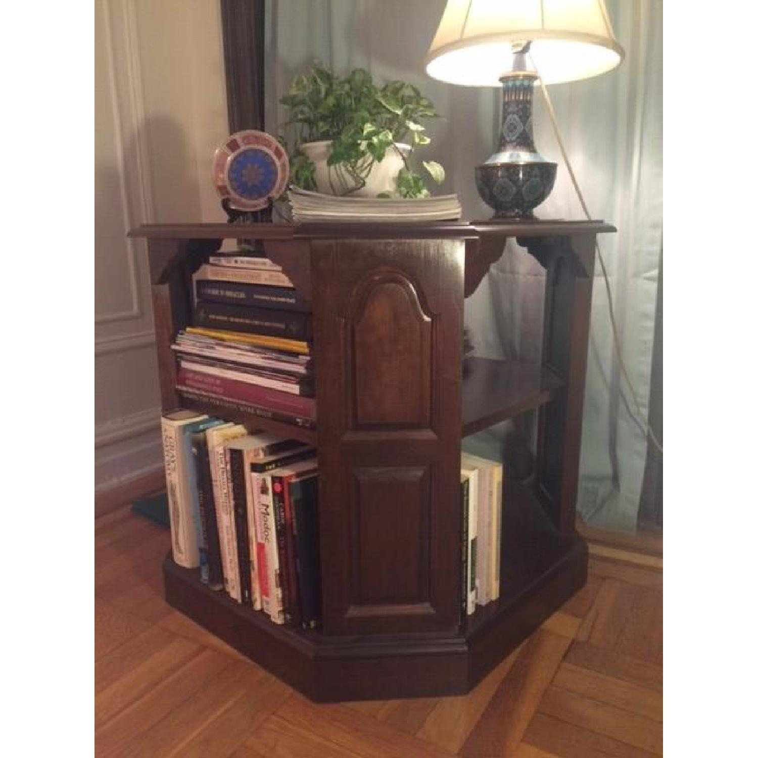 Mahogany-Stained Bookcase/End table - image-6