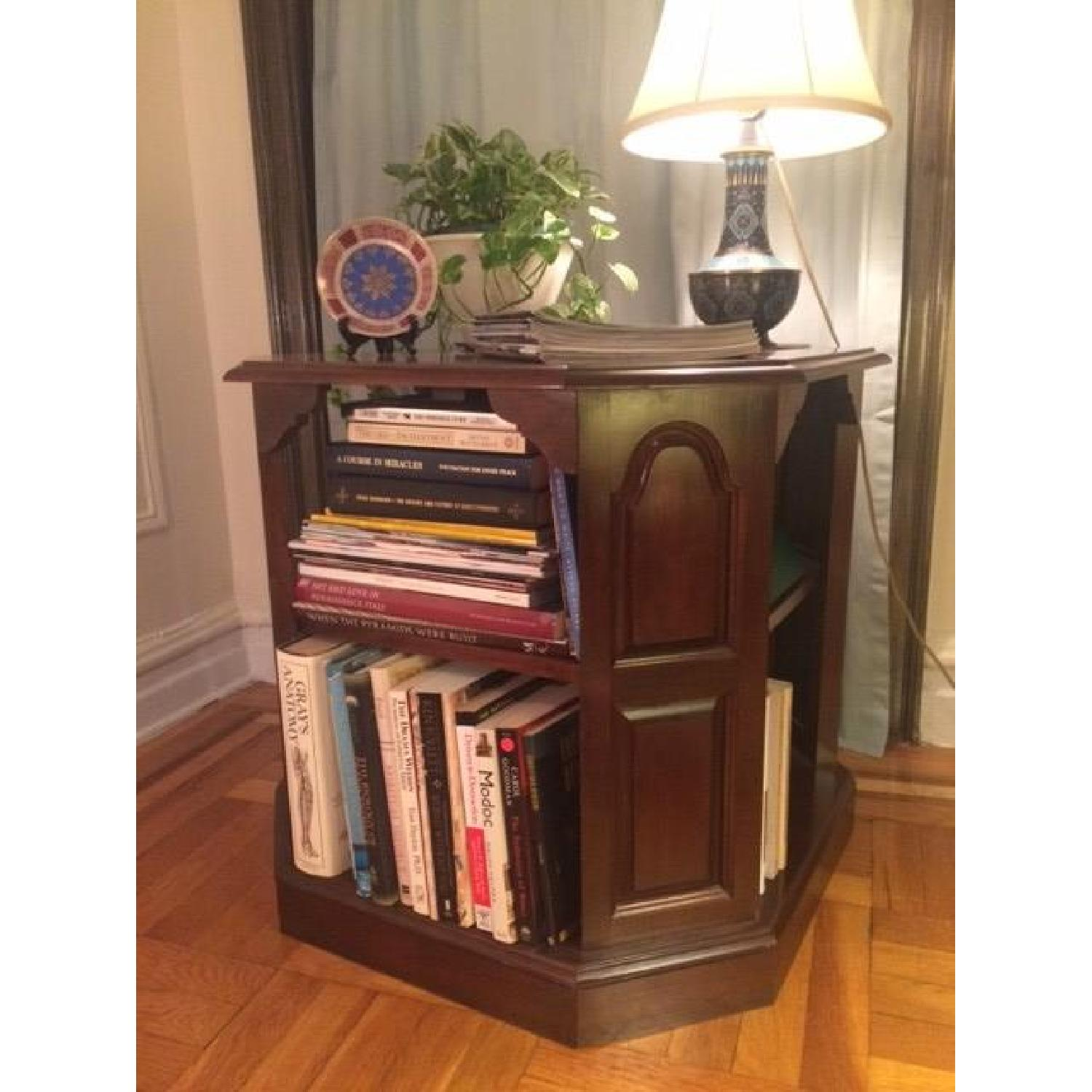 Mahogany-Stained Bookcase/End table - image-7