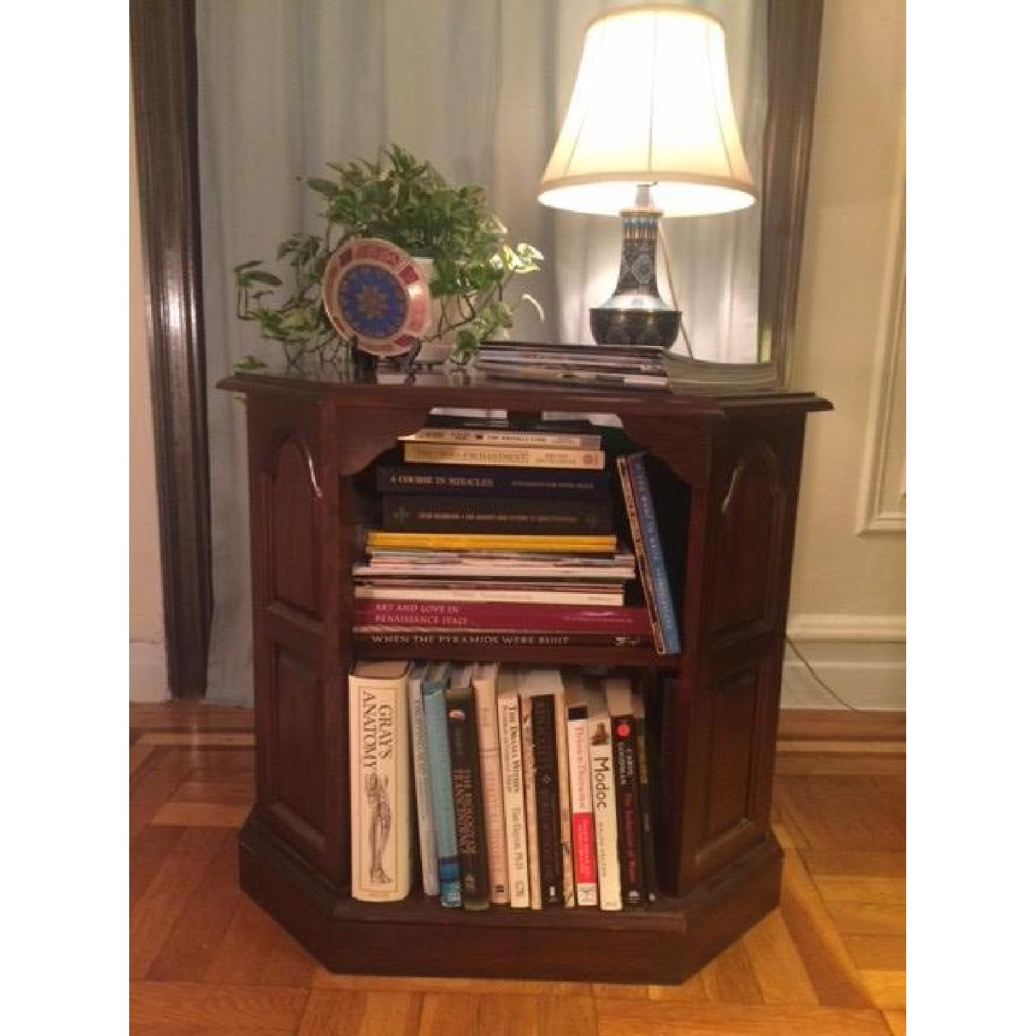 Mahogany-Stained Bookcase/End table - image-8