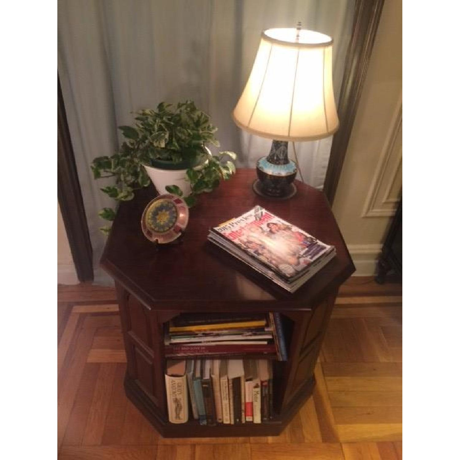 Mahogany-Stained Bookcase/End table - image-9