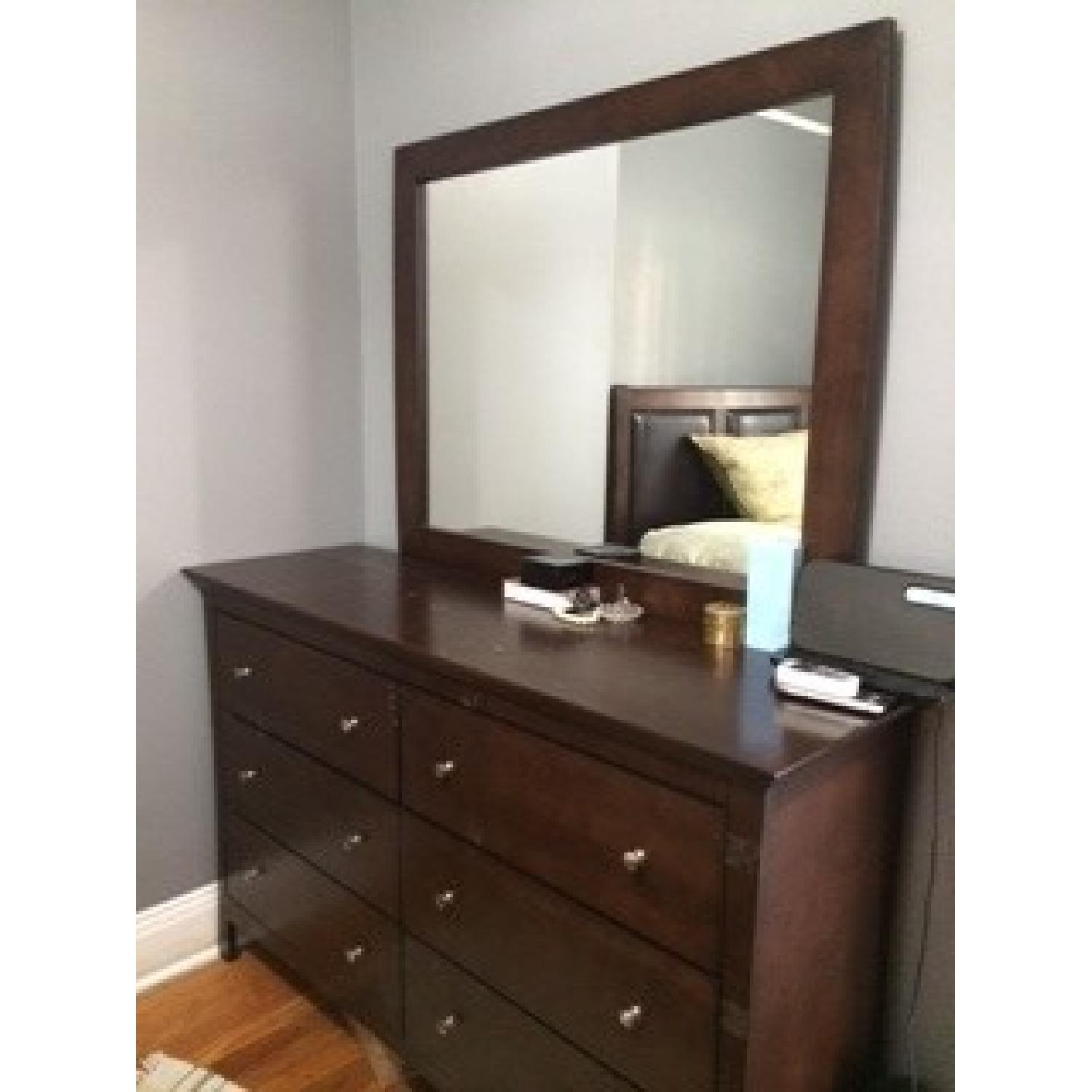 Bob's Queen Size Bed + Dresser w/ Mirror - image-2
