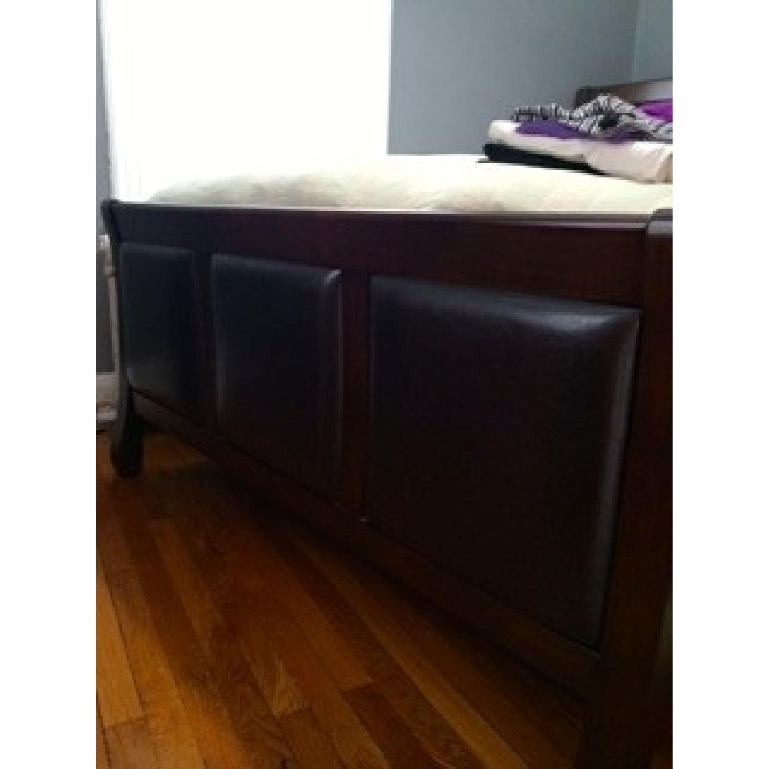 Bob's Queen Size Bed + Dresser w/ Mirror - image-3