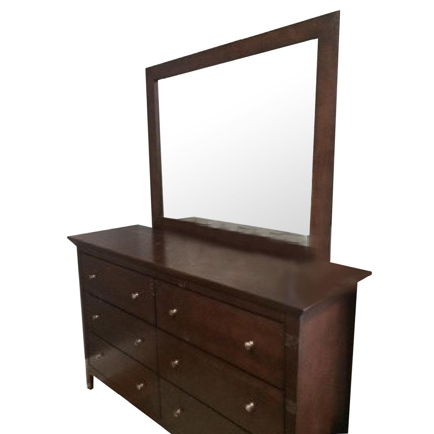 Bob's Queen Size Bed + Dresser w/ Mirror - image-4