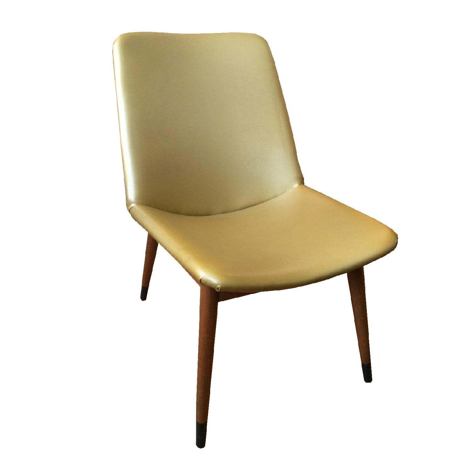 Mid Century Vintage Gold Chair - image-0