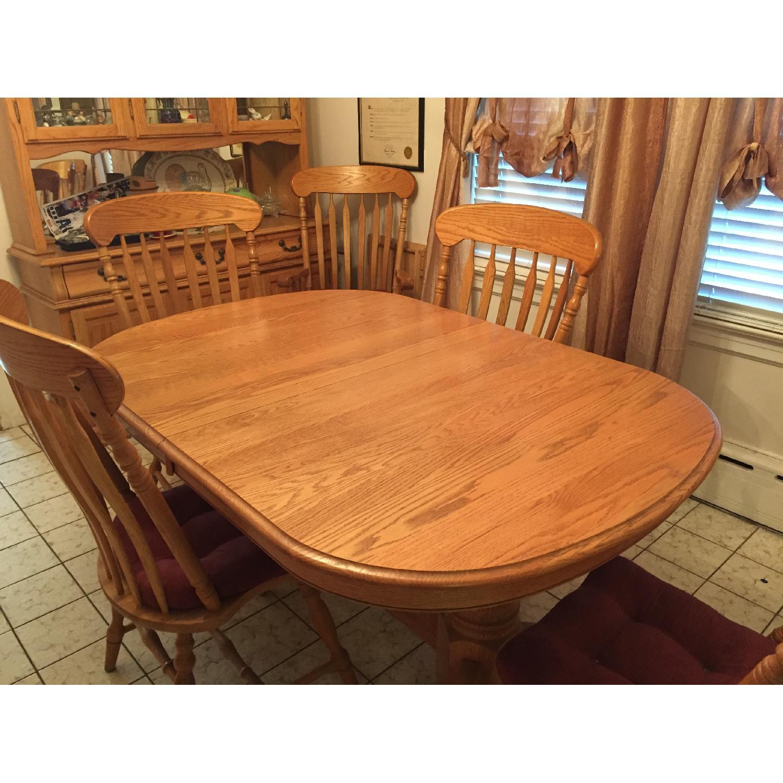 Nostalgic Oak Country Style 8 Piece Dining Room Set - image-1