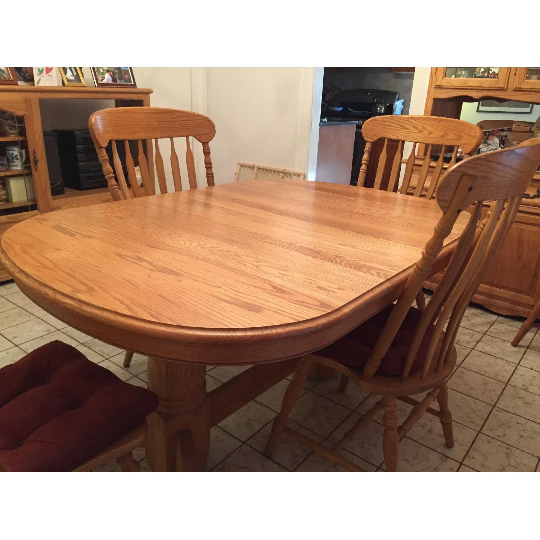 Nostalgic Oak Country Style 8 Piece Dining Room Set - image-2
