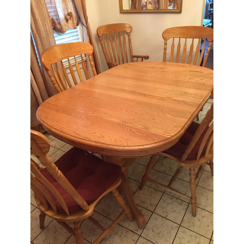 Nostalgic Oak Country Style 8 Piece Dining Room Set - image-3