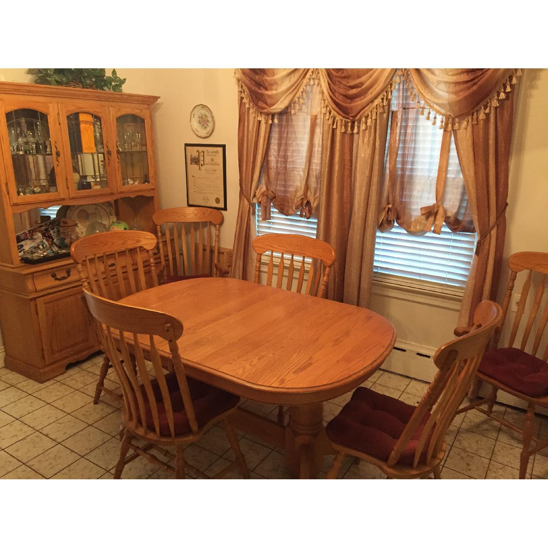 Nostalgic Oak Country Style 8 Piece Dining Room Set - image-5