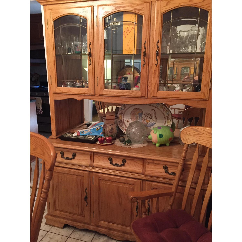 Nostalgic Oak Country Style 8 Piece Dining Room Set - image-8