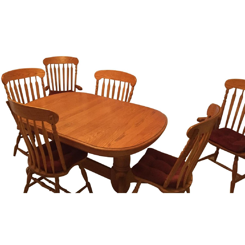 Nostalgic Oak Country Style 8 Piece Dining Room Set - image-0