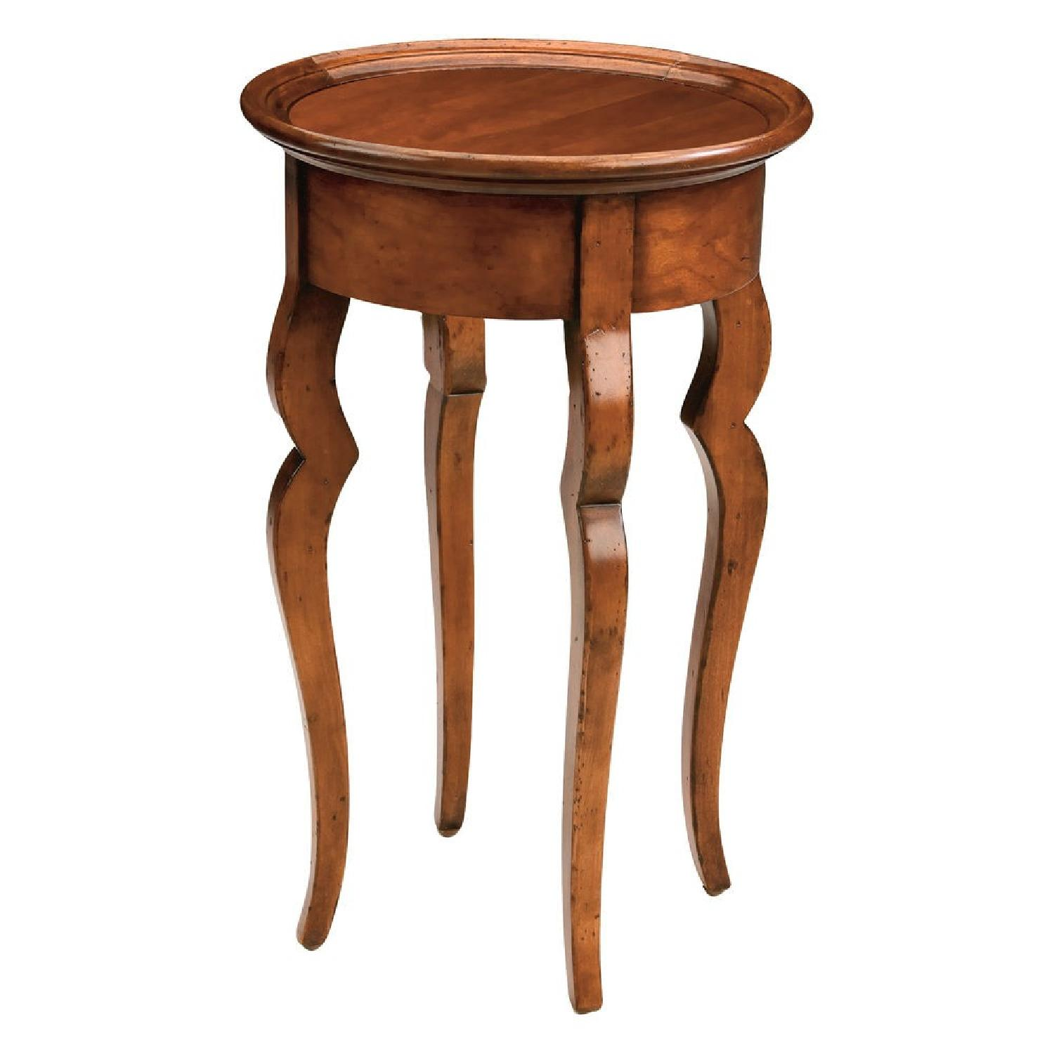 Ethan Allen Alisha Cherry Wood Plant Stand - image-0
