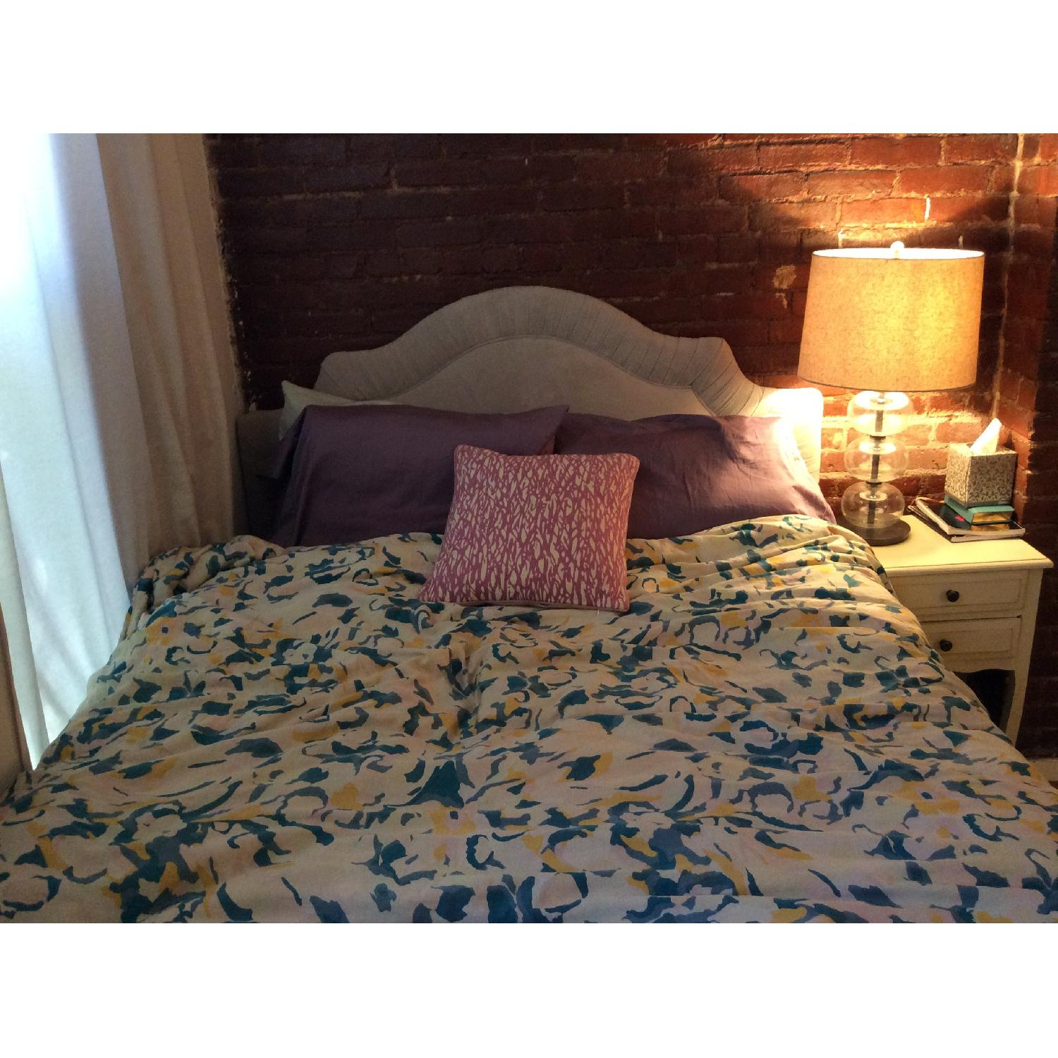 One Kings Lane Pale Blue Headboard with Frame - image-1