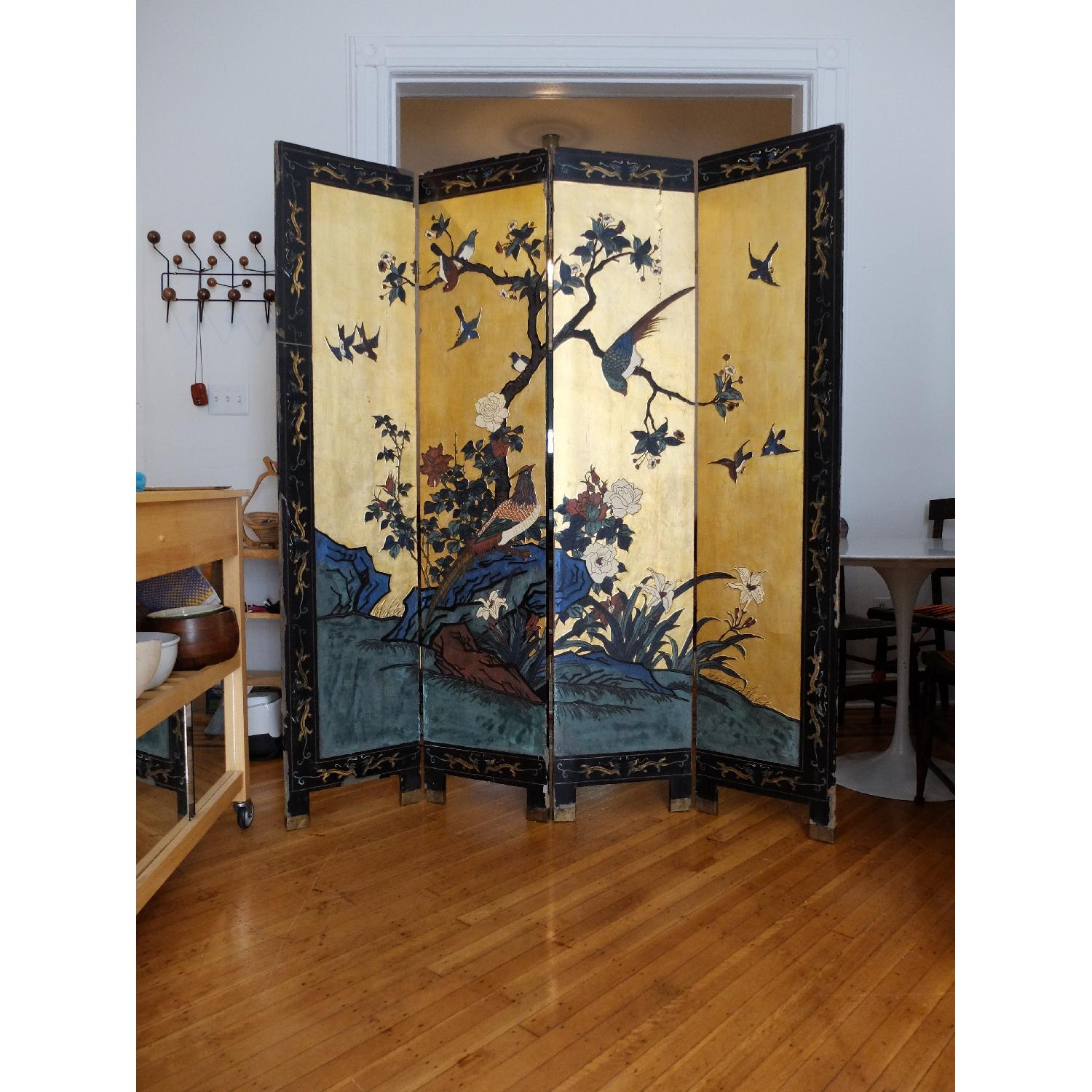 Antique Chinese Screen - image-1