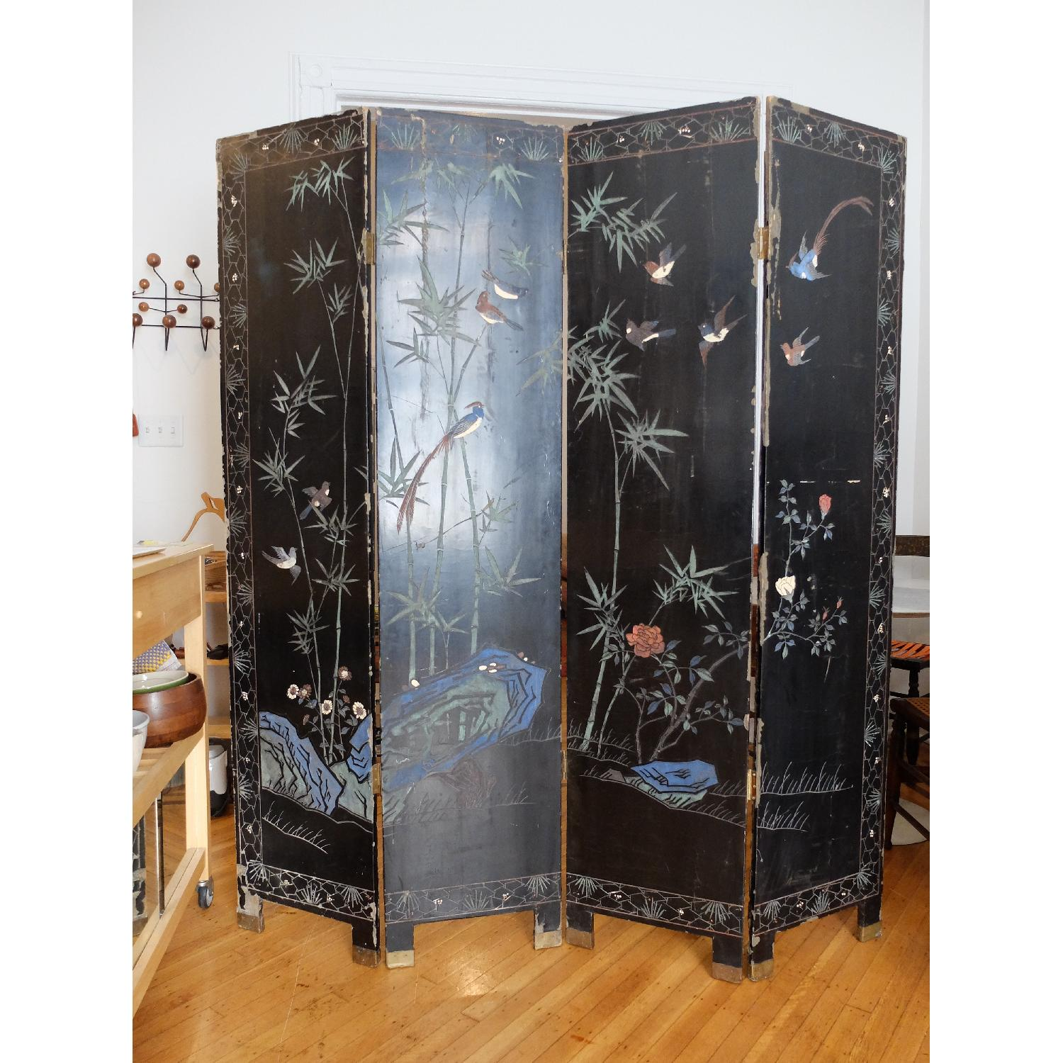 Antique Chinese Screen - image-2