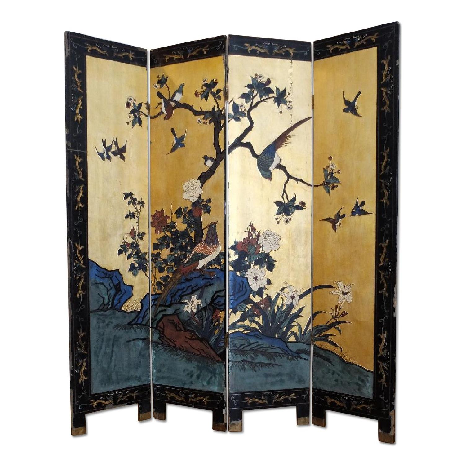Antique Chinese Screen - image-0