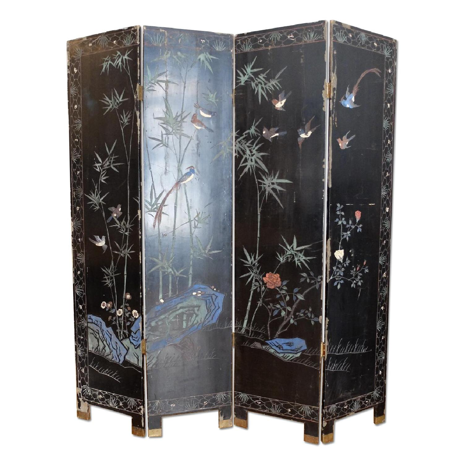 Antique Chinese Screen - image-9