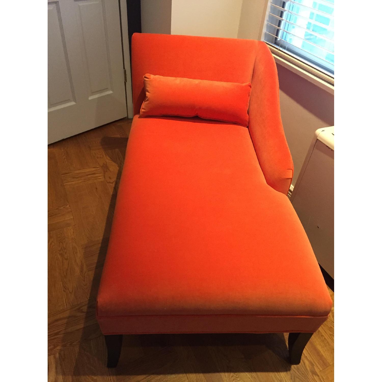 Mitchell Gold + Bob Williams Orange Emma Chaise Lounge - image-1